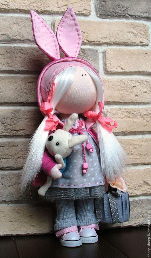 Куклы тыквоголовки ручной работы. Ярмарка Мастеров - ручная работа. Купить Кукла коллекционная. Handmade. Розовый, кукла в подарок