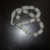 """Украшения ручной работы. Ярмарка Мастеров - ручная работа Бусы """"Осколки моря на песке"""". Handmade."""