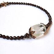 Украшения handmade. Livemaster - original item Necklace with garnets Love. Handmade.