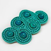 Украшения handmade. Livemaster - original item Soutache brooch Sea wave turquoise buy soutache jewelry. Handmade.