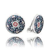 Украшения handmade. Livemaster - original item Clips ears, round earrings womens gift,