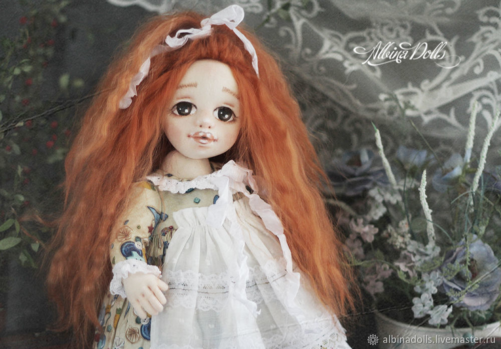 Author's textile doll collectible, Dolls, Taganrog,  Фото №1