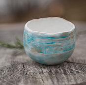 """Посуда ручной работы. Ярмарка Мастеров - ручная работа чайные пиалы """"Зимний перламутр"""". Handmade."""