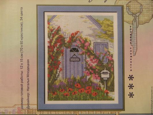 """Вышивка ручной работы. Ярмарка Мастеров - ручная работа. Купить Набор для вышивания крестиком """"Солнечный дворик"""" от фирмы """"PANNA"""". Handmade."""