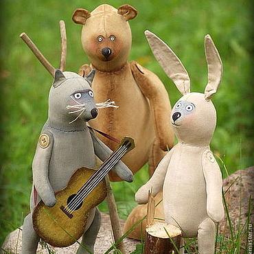 Куклы и игрушки ручной работы. Ярмарка Мастеров - ручная работа Лесные музыканты. Медведь, волк и заяц. Ароматизированные Интерьерные. Handmade.