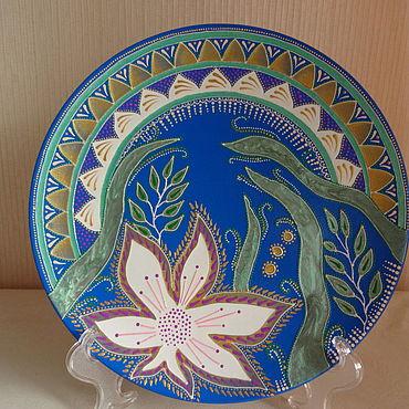 Посуда ручной работы. Ярмарка Мастеров - ручная работа Декоративная тарелка Цветок. Handmade.