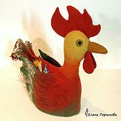 Для дома и интерьера handmade. Livemaster - original item Warmer for teapot Rooster. Handmade.