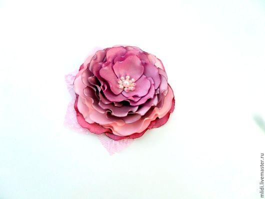 """Заколки ручной работы. Ярмарка Мастеров - ручная работа. Купить Заколка для волос, брошь  """" Розовые переливы..."""". Handmade."""