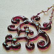 Украшения handmade. Livemaster - original item The pendant is made of glass and beads