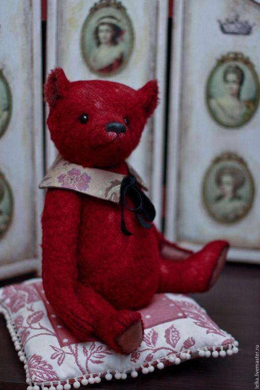 Мишки Тедди ручной работы. Ярмарка Мастеров - ручная работа. Купить Вишневый. Handmade. Бордовый, древесная шерсть