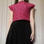 Одежда handmade. Livemaster - original item Felted cotton top. Handmade.