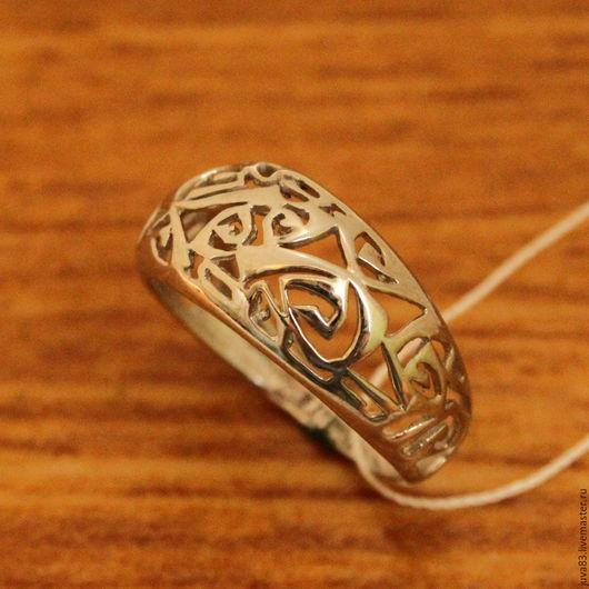Кольца ручной работы. Ярмарка Мастеров - ручная работа. Купить Серебряное кольцо Лабиринт, серебро 925. Handmade. Серебряный