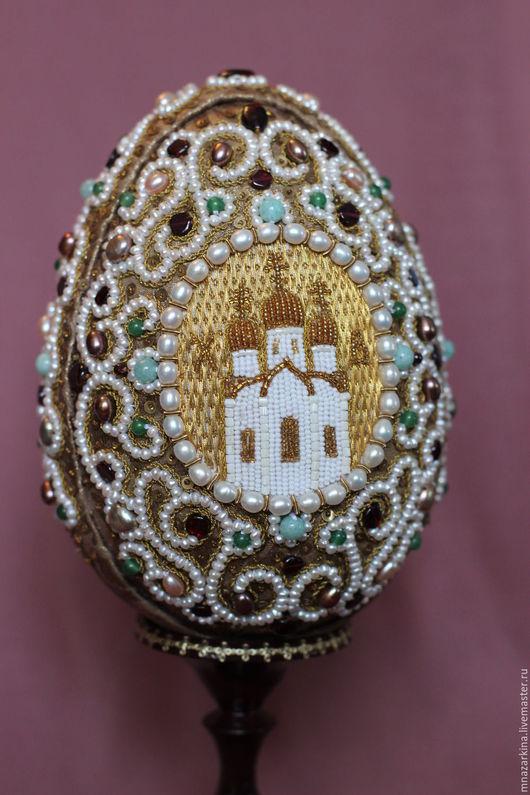 Подарки на Пасху ручной работы. Ярмарка Мастеров - ручная работа. Купить Яйцо пасхальное. Handmade. Вышивка, канитель