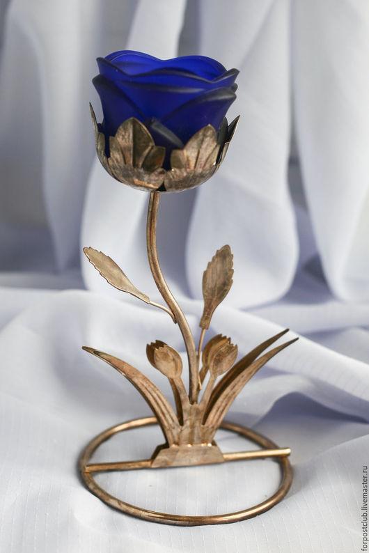 Винтажные предметы интерьера. Ярмарка Мастеров - ручная работа. Купить Подсвечник в виде розы. Германия. Handmade. Комбинированный, купить, из металла