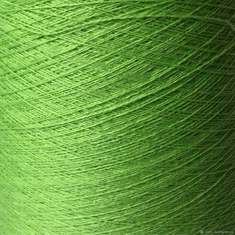 Пряжа Кашемир 2/28 зеленый неон – купить на Ярмарке Мастеров – NF1XGRU | Пряжа, Санкт-Петербург
