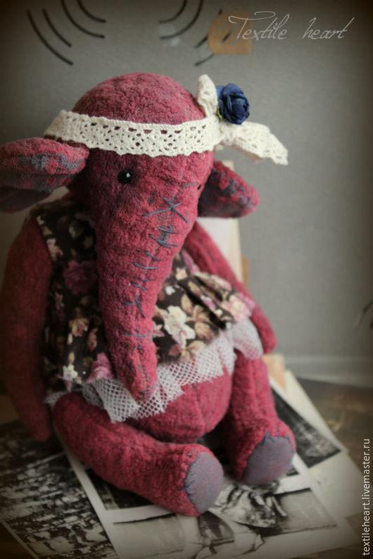 Мишки Тедди ручной работы. Ярмарка Мастеров - ручная работа. Купить Старые воспоминания.... Handmade. Бордовый, слониха, винтажные игрушки