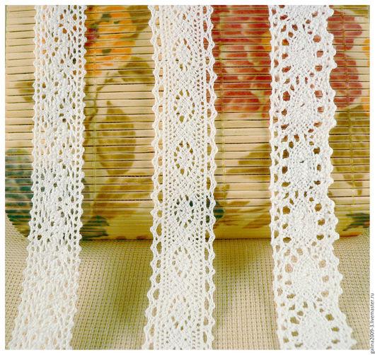 Шитье ручной работы. Ярмарка Мастеров - ручная работа. Купить Кружево вязаное.. Handmade. Белый, хлопковое кружево, кружева, для отделки