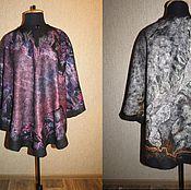 Одежда ручной работы. Ярмарка Мастеров - ручная работа Пончо валяное двусторонее  Шерстяное,народный стиль, валяный. Handmade.