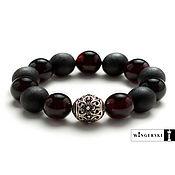 Украшения handmade. Livemaster - original item Baltic amber Lotus flower bracelet with silver charm. Handmade.