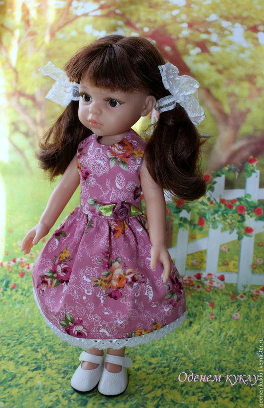 Одежда для кукол ручной работы. Ярмарка Мастеров - ручная работа. Купить Платье с бантиками для куклы. Handmade. Платье для куклы