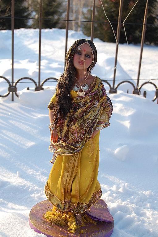 """Коллекционные куклы ручной работы. Ярмарка Мастеров - ручная работа. Купить из серии женщины мира в национальных костюмах""""Индия"""". Handmade."""