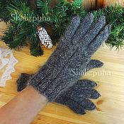 Аксессуары handmade. Livemaster - original item Warm woolen down gloves, 419. Handmade.