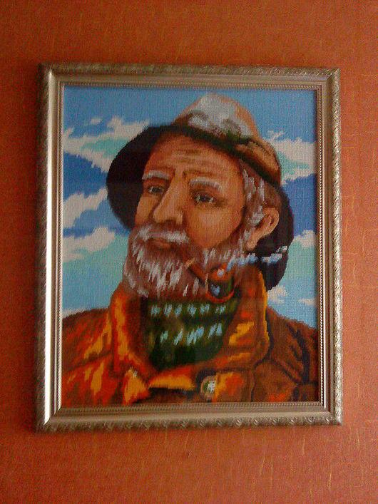 """Люди, ручной работы. Ярмарка Мастеров - ручная работа. Купить Картина """"Путешественник"""". Handmade. Вышитые картины, картина, подарок"""