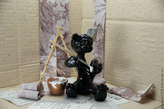 Приколы ручной работы. Ярмарка Мастеров - ручная работа. Купить Черный Кот.. Handmade. Черный, подарок на любой случай