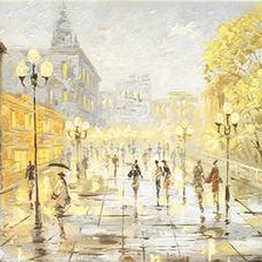 Картины и панно ручной работы. Ярмарка Мастеров - ручная работа осенний город москва. Handmade.