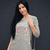 Одежда handmade. Livemaster - original item Evening dress with hand embroidery