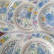АНГЛИЯ глубокие фарфоровые тарелки MASONs 6 штук