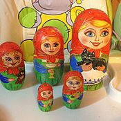 Куклы и игрушки ручной работы. Ярмарка Мастеров - ручная работа Матрёшка 5 мест. Handmade.