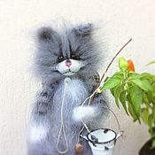 Куклы и игрушки handmade. Livemaster - original item kotofey fishing 30 cm knitted of the author`s interior toy cat. Handmade.