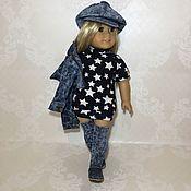 Одежда для кукол ручной работы. Ярмарка Мастеров - ручная работа Одежда для American Girl комплект джинсовый. Handmade.