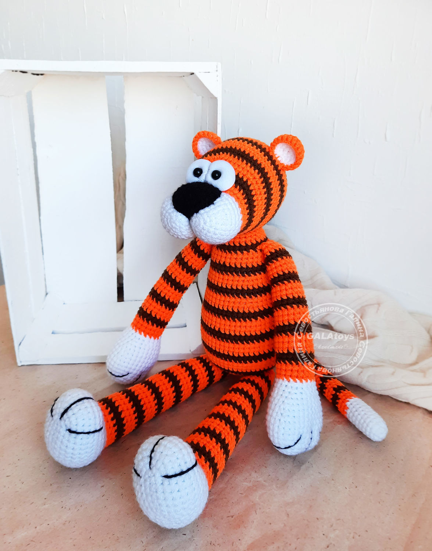 Tiger Edgar. knitted toy, Stuffed Toys, Volgograd,  Фото №1