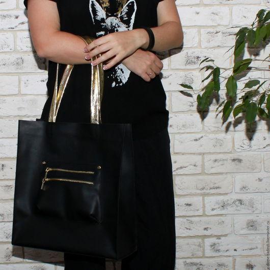 Кожаная женская сумка, купить кожаную сумку, черная кожаная сумка, сумка на каждый день, красивая удобная сумка. Мастер Сечкина Юлия http://www.livemaster.ru/v-dome-radosti