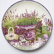 Посуда ручной работы. Ярмарка Мастеров - ручная работа Тарелка декоративная Лаванда. Handmade.