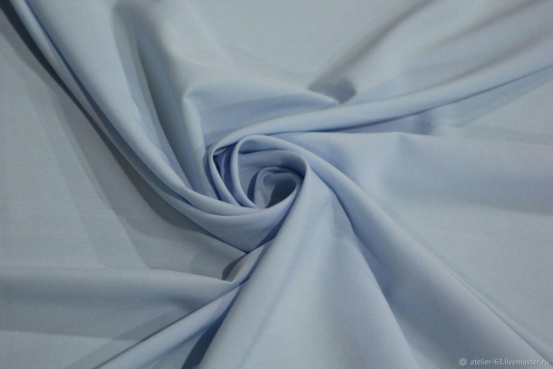 Шитье ручной работы. Ярмарка Мастеров - ручная работа. Купить Вискоза с эластаном. Handmade. Голубой, ткань для одежды, вискоза с эластаном