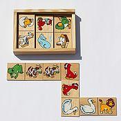 """Игровые наборы ручной работы. Ярмарка Мастеров - ручная работа Домино """"Животные"""" для малышей. Handmade."""
