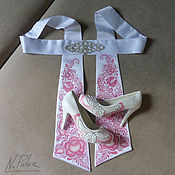Свадебный салон handmade. Livemaster - original item Painting on footwear and textiles. Wedding set