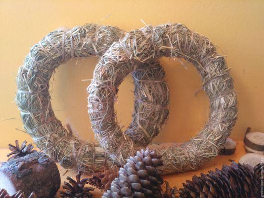 Свадебные аксессуары ручной работы. Ярмарка Мастеров - ручная работа. Купить Венок из сена. Handmade. Оливковый, сено