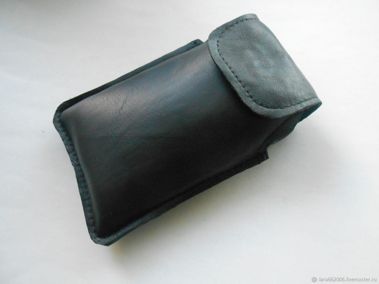 кожаный чехол для телефона черного цвета купить в интернет
