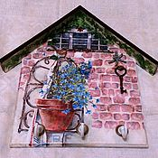 """Для дома и интерьера ручной работы. Ярмарка Мастеров - ручная работа Ключница """"Летний день на даче"""". Handmade."""
