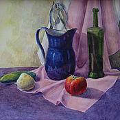 Картины и панно ручной работы. Ярмарка Мастеров - ручная работа Натюрморт с помидором. Handmade.