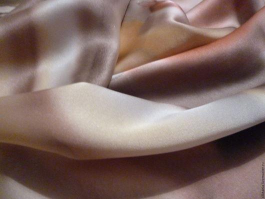 """Шарфы и шарфики ручной работы. Ярмарка Мастеров - ручная работа. Купить """"Шоколад с карамелью""""-шелковый шарф. Handmade. Коричневый"""