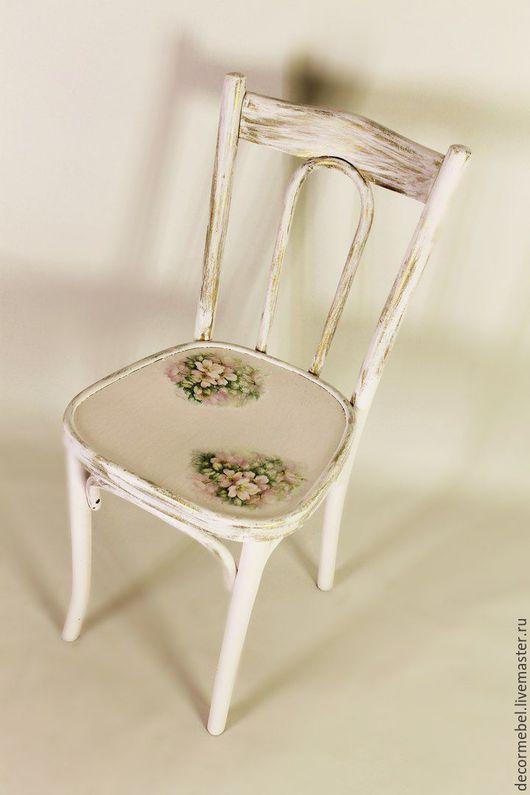 Мебель ручной работы. Ярмарка Мастеров - ручная работа. Купить Венский стул с цветами шиповника. Handmade. Бледно-сиреневый, Мебель