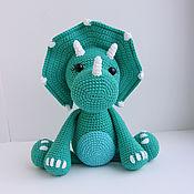 Мягкие игрушки ручной работы. Ярмарка Мастеров - ручная работа Динозавр. Вязаная игрушка. Handmade.