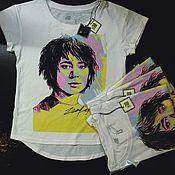 Одежда ручной работы. Ярмарка Мастеров - ручная работа женская футболка с принтом Земфира. Handmade.