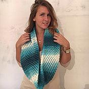 Аксессуары ручной работы. Ярмарка Мастеров - ручная работа шарф снуд Бирюза. Handmade.