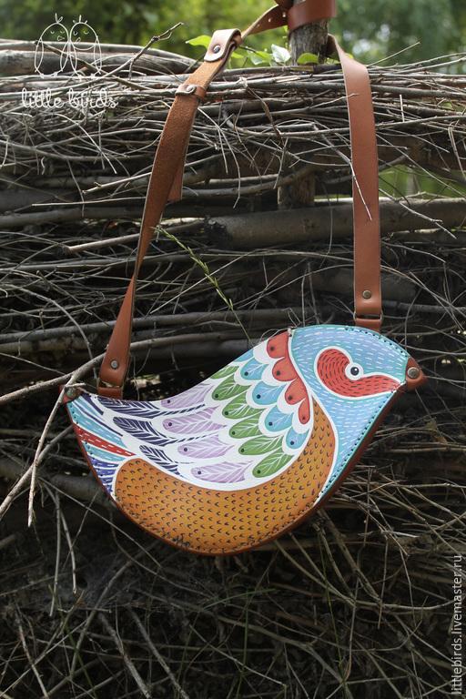 Женские сумки ручной работы. Ярмарка Мастеров - ручная работа. Купить Сумочка из натуральной кожи. Handmade. Голубой, женская сумочка